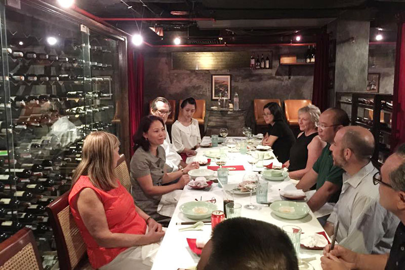 Dinner with US partners  at Club De L'Oriental, Hanoi