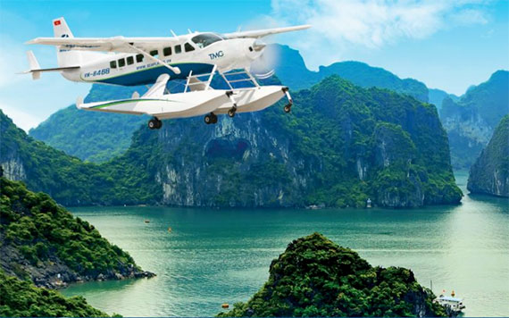 Round Trip Hanoi - Halong Bay By Seaplane With 15 Minutes Scenic