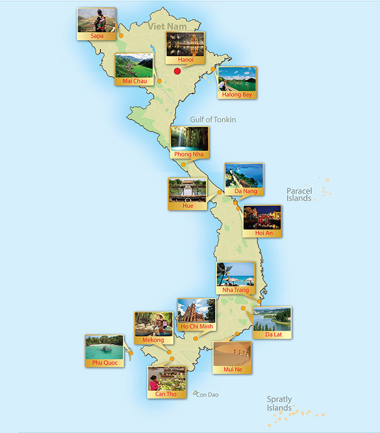 vietnam day tour map